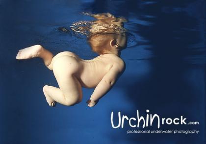 Preciosas fotos de bebés bajo el agua