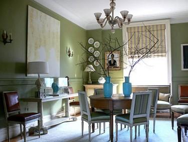 Ideas para decorar salones con verde oliva