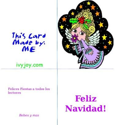 Tarjetas de Navidad para imprimir de Ivyjoy
