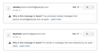 Gmail nos dice por qué ha filtrado un correo como SPAM