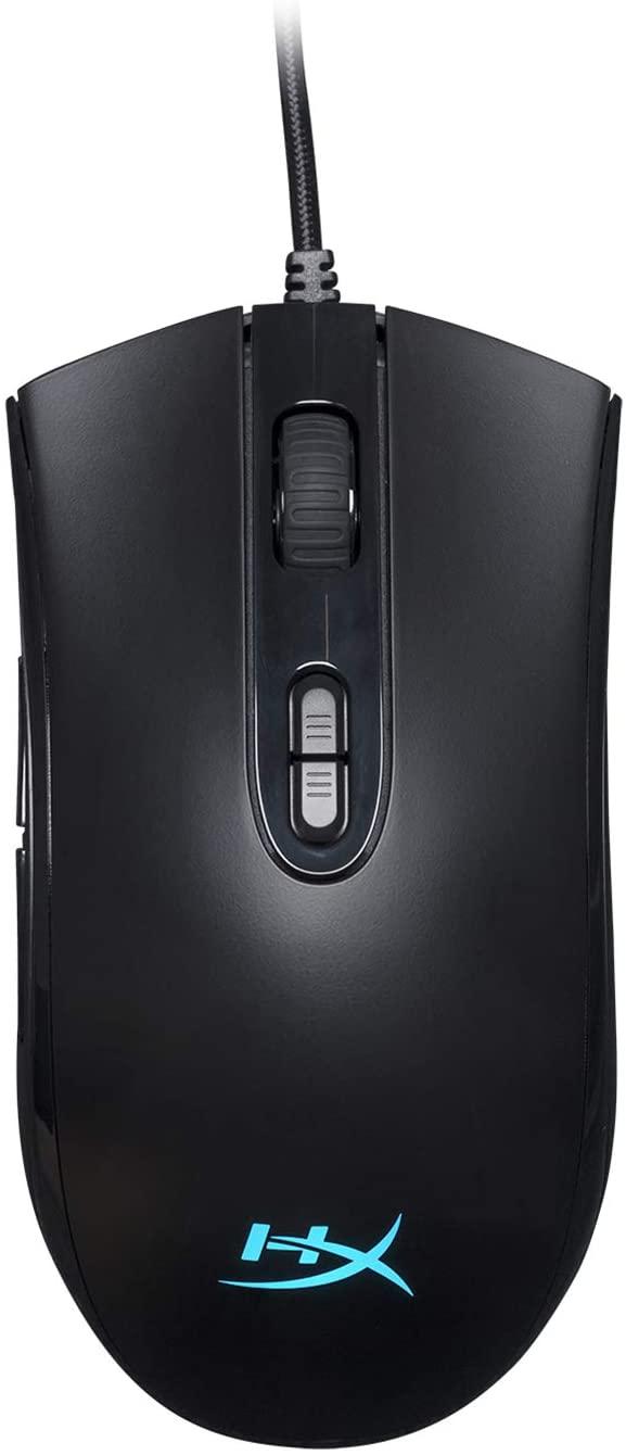 HyperX Pulsefire Core RGB - Mouse para gaming, diseño simétrico, siete botones programables, luz RGB