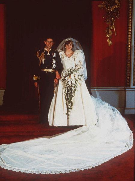 Prince Charles Princess Diana 1981 Boda Vestido Novia