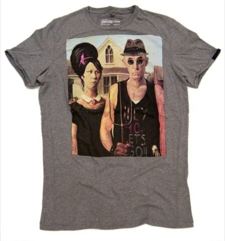Camiseta de Bershka, American Gothic