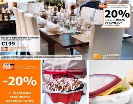 20% de descuento en sartenes, utensilios para horno y todas las mesas de comedor de Ikea