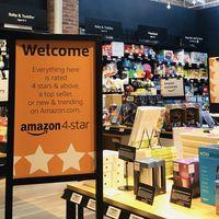 Abre Amazon 4-star, la tienda física donde todos los productos tienen una valoración de cuatro o más estrellas y reseñas impresas