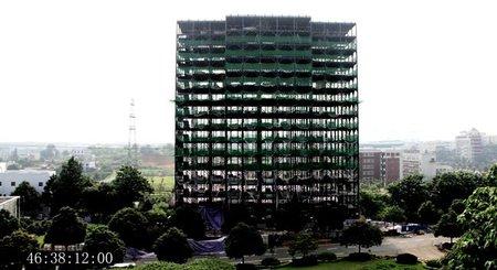 Hotel construido en 6 días - estructura
