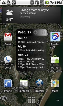 Google Maps 4.1, nueva pantalla de resultados, widget y wallpaper live
