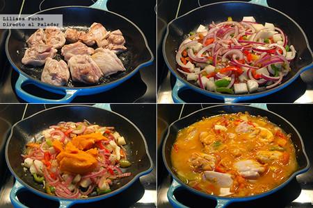 Contramuslos de Pollo en salsa cremosa de Calabaza. Pasos