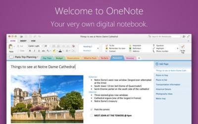 Novedades en OneNote: ahora en OS X, gratis en Windows, nueva API