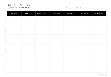 Lista de la compra basica semanal