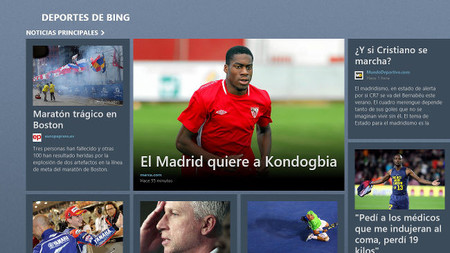 Deportes app para Windows 8/RT