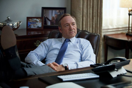frank underwood  en el despacho