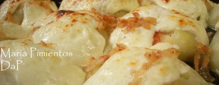 Patatas con queso fresco al horno