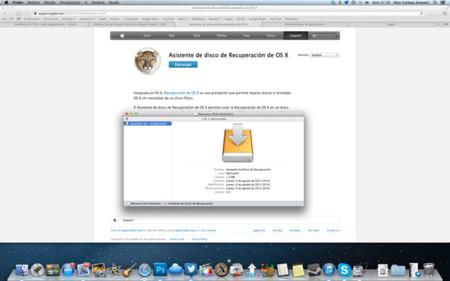 Aplicación Recovery Disk de OSX