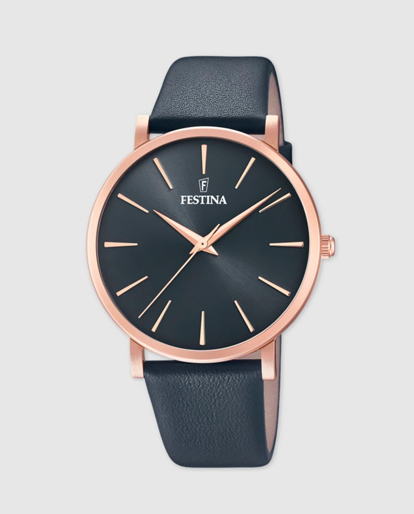 Reloj de mujer Festina Boyfriend F20373/2 de piel gris