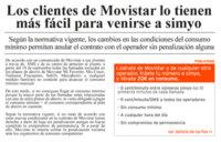 Simyo anima a los clientes de Movistar a cambiarse de compañía