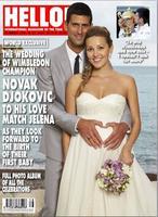 Novak Djokovic se corta la coleta con bebé a bordo