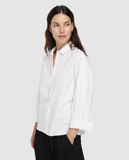 Camisa de mujer Emporio Armani blanca con manga larga