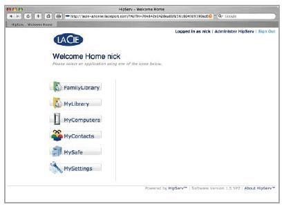 Internet Home LaCie 2
