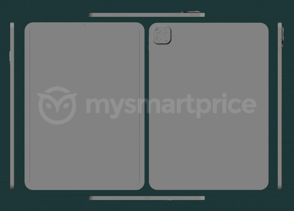 Se filtran los supuestos prototipos CAD del iPad Pro de 2021 de la mano de MySmartPrice