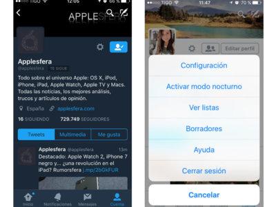 Twitter anuncia la llegada del modo nocturno en iPhone y iPad