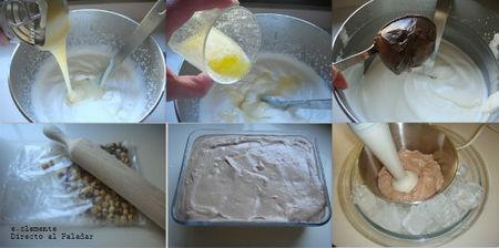 Paso a paso helado de Nutella y avellanas