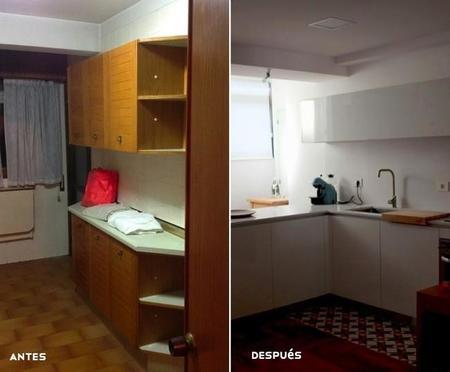 Antes y después: la reforma integral de una cocina que se pasa al blanco