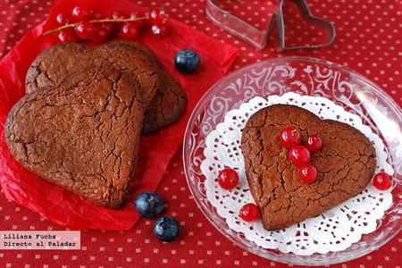 Galletas corazón de Nutella. Receta para San Valentín