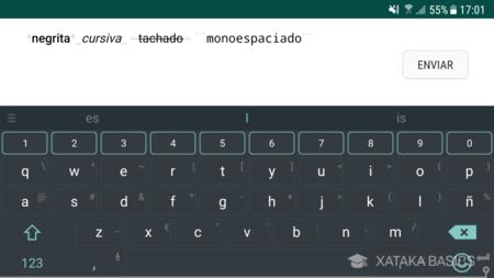 Negrita Cursiva Tachado Y Monoespaciado En Whatsapp
