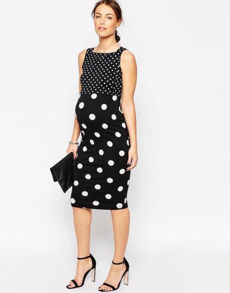 Blanco y negro, la combinación más elegante para tus looks premamá