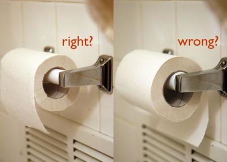 ¿Pones siempre el papel higiénico de la misma manera? Resultado final