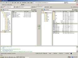 Un programa de FTP donde tengas un navegador