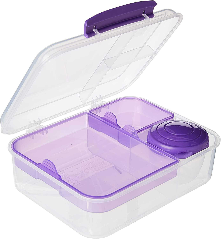 Sistema Bento To Go Fiambrera con tarrina para Frutas o Yogur, 1,65 l, Colores Surtidos (varía según el envase), 1 Unidad