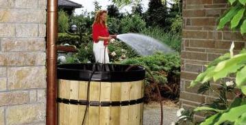 Para recoger el agua de lluvia