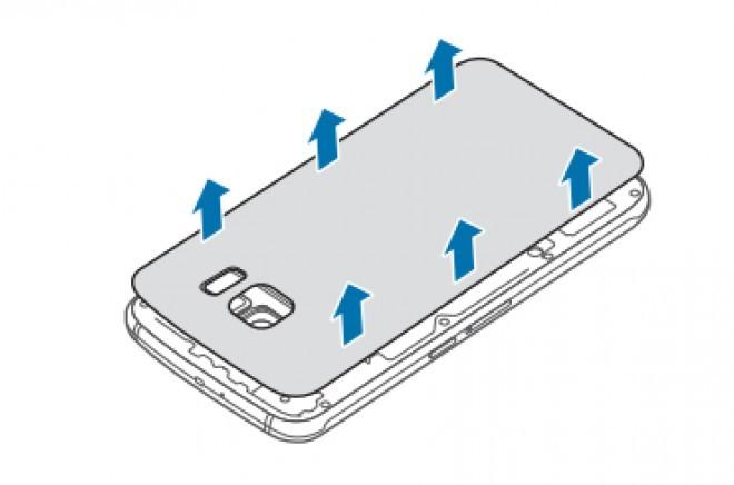 Foto de Samsung Galaxy S6, extracción de batería (1/5)