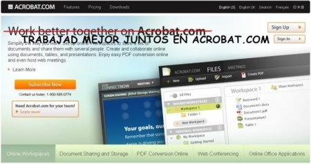 Acrobat.com en breve en español