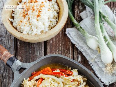 Tinga de pollo y verduras en salsa verde. Receta para las Fiestas Patrias