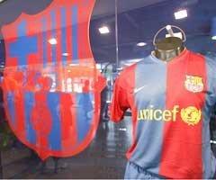 El FC Barcelona colabora con UNICEF contra el sida