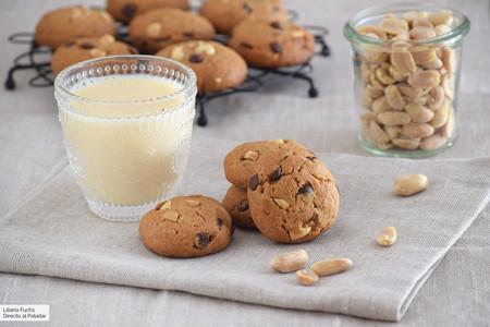 galletas de doble cacahuete y chocolate