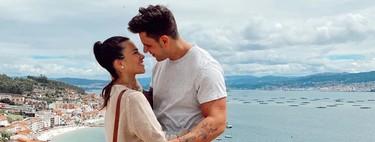 Dieguiño Matamoros y Carliña Barber casi se besan sin que les salten los puntos durante sus vacaciones