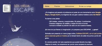 Escape, el juego online de Sol Meliá