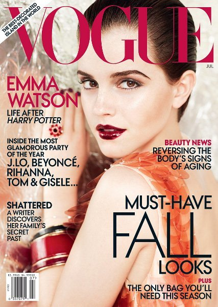 Emma Watson y su sofisticado look en la portada de Vogue US