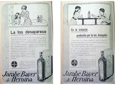 La tos desaparece con el jarabe Bayer de Heroína
