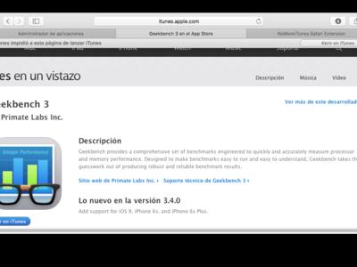 NoMoreiTunes, la extensión de Safari que evitará se abra iTunes cuando no lo deseas