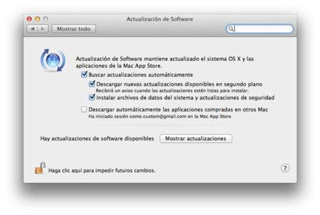Desactiva la descarga automática de actualizaciones en OS X Mountain Lion