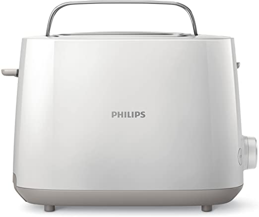 Philips Daily HD2581/00 -Tostador 830 W, Doble Ranura, Color Blanco
