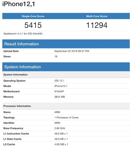 Iphone Xr 2019 Geekbench