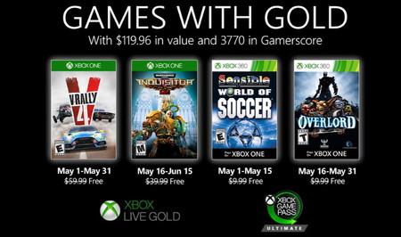 V-Rally 4 y Overlord II, entre los juegos de Games with Gold de mayo de 2020
