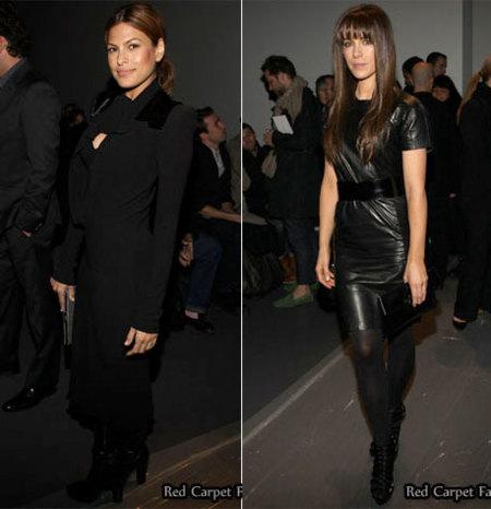 Eva Mendes y Kate Beckhinsale en el front-row de Calvin Klein