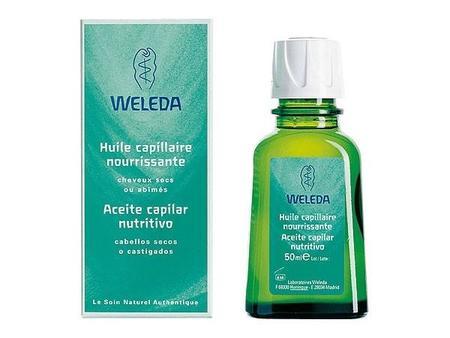 ¿Un aceite para el cabello?, sin miedo, se trata de un aceite capilar nutritivo para cabello seco de Weleda. Su presentación es sencilla, un producto para